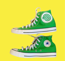 Load image into Gallery viewer, GREEN CONVERSE W/ WICKED SNAKE