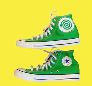 GREEN CONVERSE W/ WICKED SNAKE