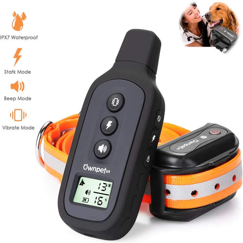 OWNPETS Dog Shock Training Collar with Remote, Perfect for Small, Medium & Large Dogs