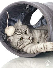 Load image into Gallery viewer, Ownpets Cat Tunnel, Large 3-Way Pet Tunnels Collapsible Tube for Cats, Puppy, Rabbit, Kitty and Mongoose