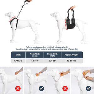 OWNPETS Dog Support Harness Set ( Large ), Rehabilitation Sling for Dogs Needing Help with Mobility or Balance