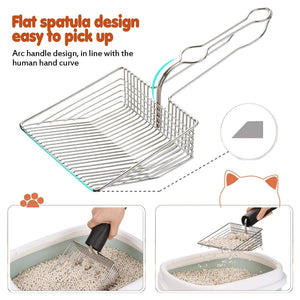 OWNPETS Stainless Steel Cat Litter Scoop  ( Color: Silver )