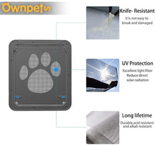"Load image into Gallery viewer, OWNPETS Large Flap Replacement (14""x12"") for Ownpets Larger Screen Door - Flap ONLY"