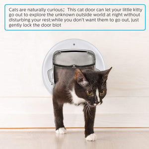 OWNPETS Cats Door, 11.8x13x1.6 inch Pets Door, Lightweight and Durable, Easy to Install Pet Doors for Cats, Fit All Cats and Small Dogs