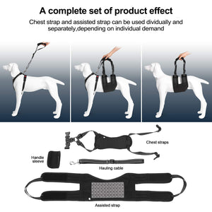 OWNPETS Dog Support Harness Set ( X-Large ), Rehabilitation Sling for Dogs Needing Help with Mobility or Balance