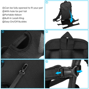 OWNPETS Legs Out Front Dog Carrier, Hands-Free Adjustable Backpack for Small Medium Cat Puppy Doggie
