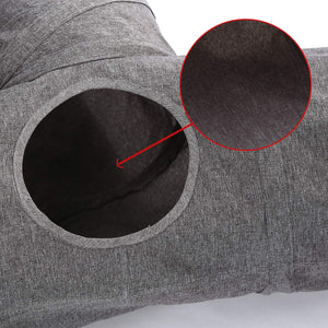 Ownpets Cat Tunnel, Large 3-Way Pet Tunnels Collapsible Tube for Cats, Puppy, Rabbit, Kitty and Mongoose