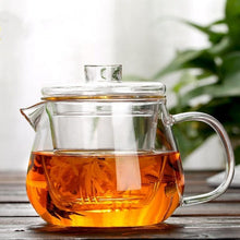 Load image into Gallery viewer, In stock mid June//Glass Teapot With Infuser and Lid (16oz.) Teaware The Grateful Tea Co.