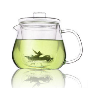 In stock mid June//Glass Teapot With Infuser and Lid (16oz.) Teaware The Grateful Tea Co.