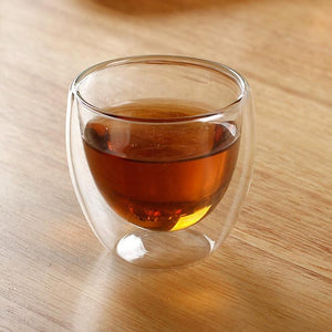 Mini Glass Teacup 2.5oz (with or without handle) Teaware The Grateful Tea Co.