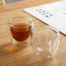 Load image into Gallery viewer, Mini Glass Teacup 2.5oz (with or without handle) Teaware The Grateful Tea Co.