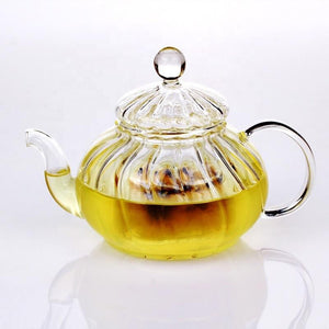 In stock mid June//Glass Teapot With Infuser and Lid (20oz.) Teaware The Grateful Tea Co.