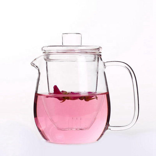 Glass Teapot With Infuser and Lid (22oz.) Teaware The Grateful Tea Co.