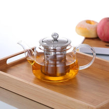 Load image into Gallery viewer, Glass Teapot With Stainless Steel Infuser and Lid (28oz.) Teaware The Grateful Tea Co.