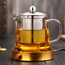 Load image into Gallery viewer, Glass Teapot With Stainless Steel Infuser and Lid (32oz.) Teaware The Grateful Tea Co.