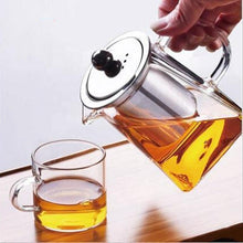 Load image into Gallery viewer, Glass Teapot With Stainless Steel Infuser and Lid (32oz or 43oz) Teaware The Grateful Tea Co.