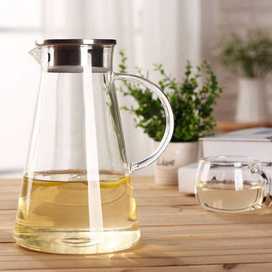 Glass Pitcher with Lid 60 oz. Teaware The Grateful Tea Co.