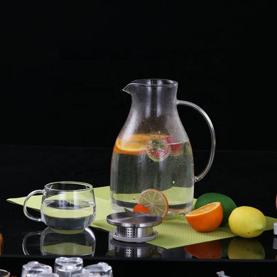 In stock mid June//Glass Pitcher with Lid 80 oz Teaware The Grateful Tea Co.