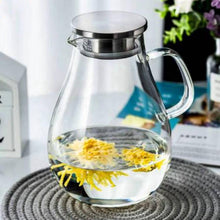 Load image into Gallery viewer, Glass Pitcher with Lid 84 oz Teaware The Grateful Tea Co.