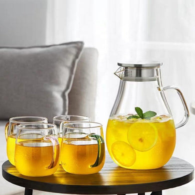 Glass Pitcher with Lid 84 oz Teaware The Grateful Tea Co.