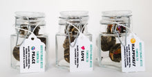 Load image into Gallery viewer, Gratefully Organic Artistic Flowering Tea - 100% Hand Made Blooming Flower Tea, One Bloom steeps 9-12 - 3.5 oz teacups Organic Tea Bags The Grateful Tea Co.