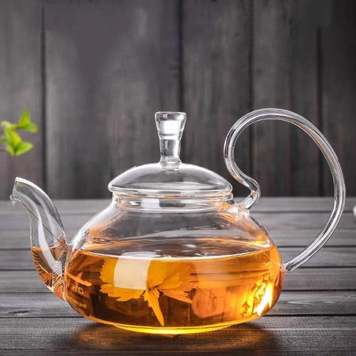 Glass Teapot With Filter and Lid (20oz.) Teaware The Grateful Tea Co.