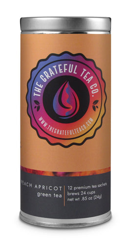 Peach Apricot Green Tea Blend Teabags Teabags The Grateful Tea Co.