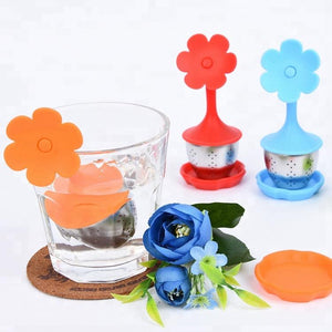 Flower Shape Silicone Tea Infuser - (304 Stainless Steel) Teaware The Grateful Tea Co.