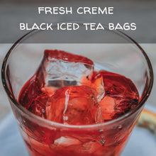 Load image into Gallery viewer, Fresh Creme Black Iced Tea Bags, available in quantities of 1, 6 or 12 quart size pouches Iced Tea The Grateful Tea Co.