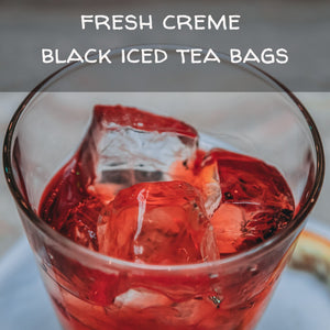 Fresh Creme Black Iced Tea Bags, available in quantities of 1, 6 or 12 quart size pouches Iced Tea The Grateful Tea Co.