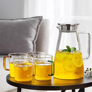 Glass Pitcher with Lid 67 oz. Teaware The Grateful Tea Co.