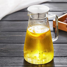 Load image into Gallery viewer, Glass Pitcher with Lid 67 oz. Teaware The Grateful Tea Co.