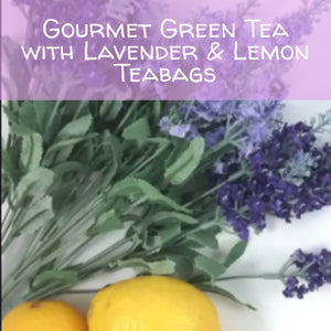 Gourmet Green Tea with Lavender & Lemon, 15 Teabags - now packaged in resealable pouch Teabags The Grateful Tea Co.