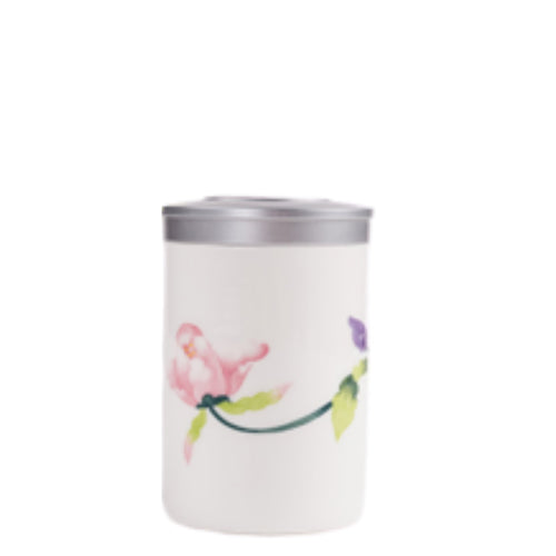 Pink Lotus Flower Tea Box / Canister - Ceramic Porcelain Teaware The Grateful Tea Co.