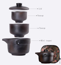 Load image into Gallery viewer, Ceramic Portable Travel Tea Set with carrying case Teaware The Grateful Tea Co.