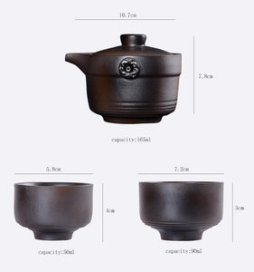 Ceramic Portable Travel Tea Set with carrying case Teaware The Grateful Tea Co.