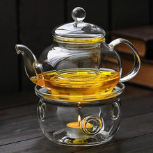 Load image into Gallery viewer, Glass Teapot Warmer (warmer only) Teaware The Grateful Tea Co.