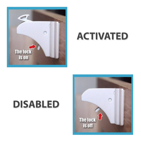 Baby Safety Lock - Activated and Disabled