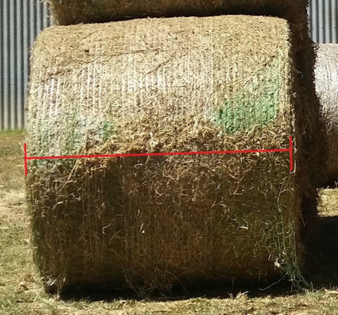 Measuring a round bale to fit a GutzBusta Slow feed hay net
