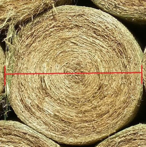 How to measure your round bale for a GutzBusta Round Bale hay net