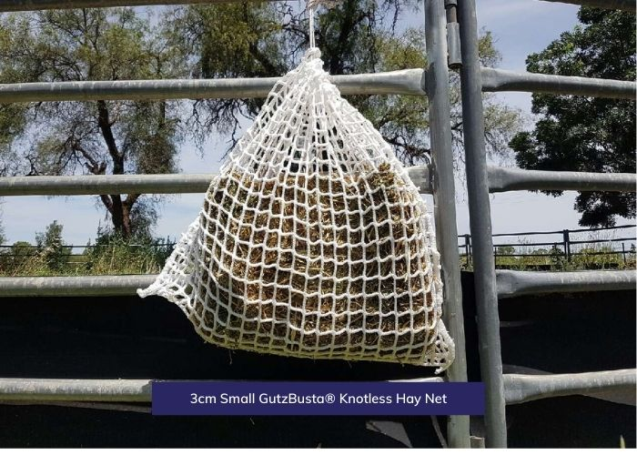 GutzBusta® Knotless Hay Nets - Small, Medium and Large-01