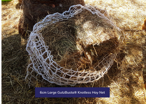 GutzBusta® Knotless Hay Nets - Small, Medium and Large