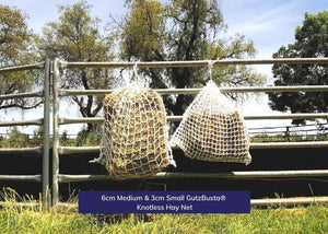 GutzBusta® Knotless Hay Nets - Small, Medium and Large-03