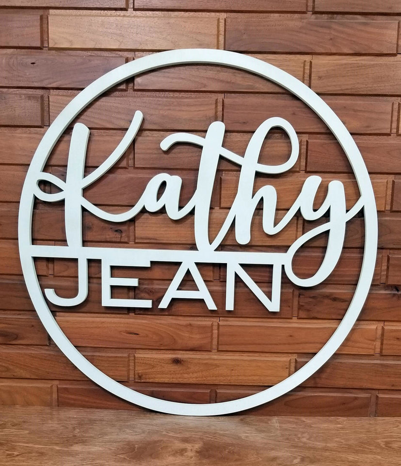 Custom name signs, monogram name cutouts, personalized name signs, baby shower gift, Wedding gift, Personalized Christmas gift, Nursery decor, custom wall art, personalized wall art, two name sign, cutout sign, laser cut sign, personal monogram
