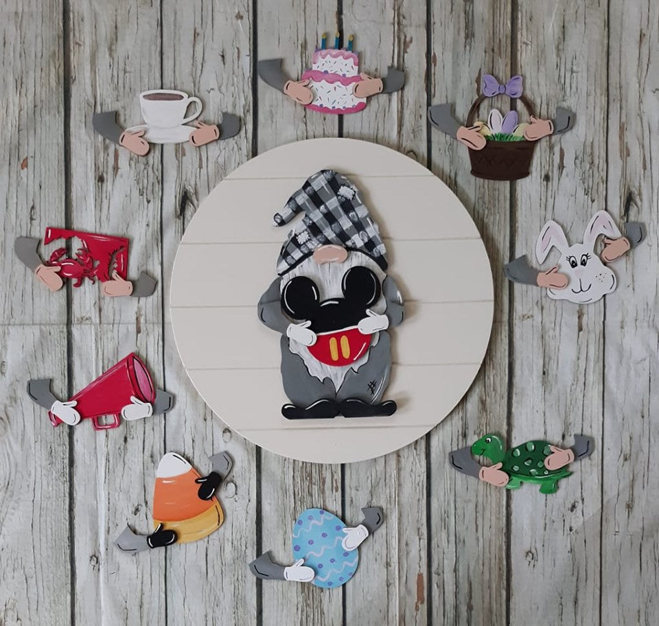 Gnome interchangeable cutouts wooden interchangeable cutouts
