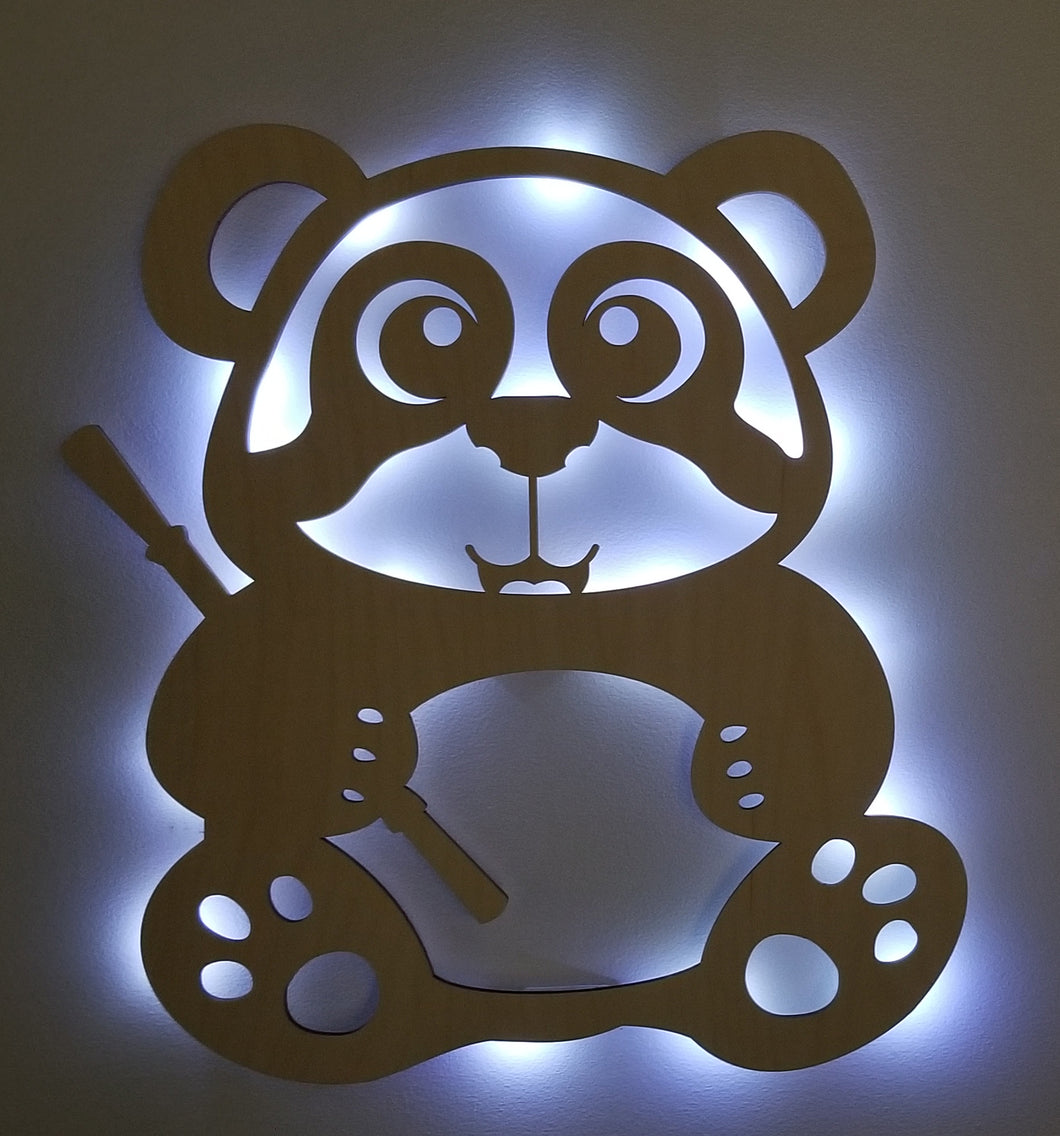 Panda accent light Wall art lighted wall art