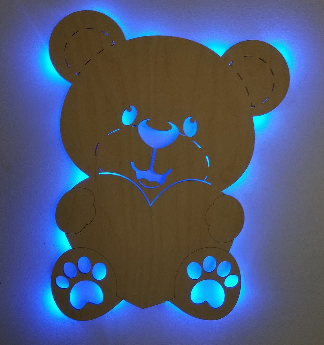 Teddy Bear Accent Light wall art lighted teddy bear wall art