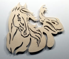 Load image into Gallery viewer, Running Horse Wall Art Horse Accent light