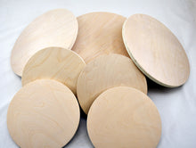 Load image into Gallery viewer, Round Circles wood blanks tray blanks