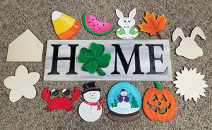 "6"" Interchangeable Home Sign Pieces"